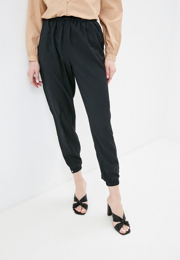 женские брюки джоггеры love republic, черные