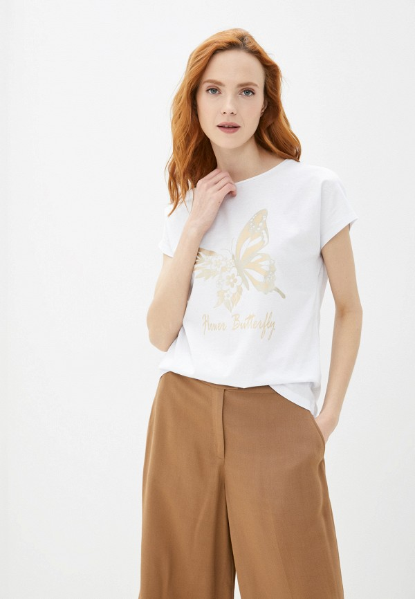 женская футболка baon, белая