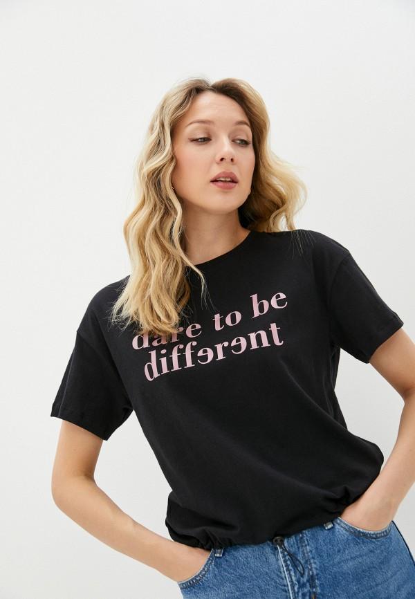 женская футболка baon, черная
