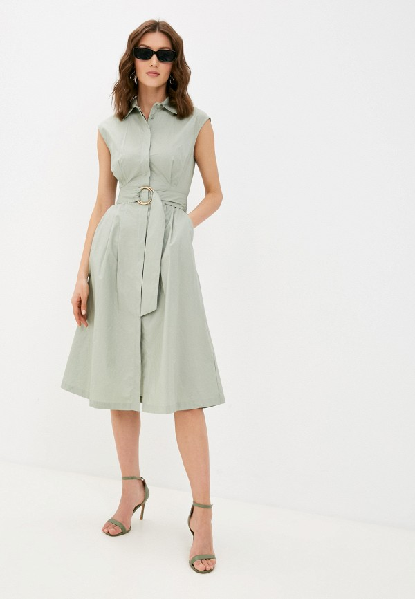 женское платье-рубашки love republic, зеленое