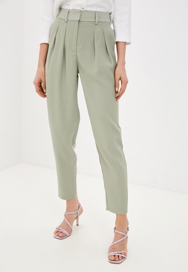 женские повседневные брюки love republic, зеленые