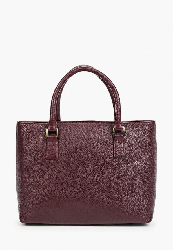 женская сумка с ручками olci, бордовая