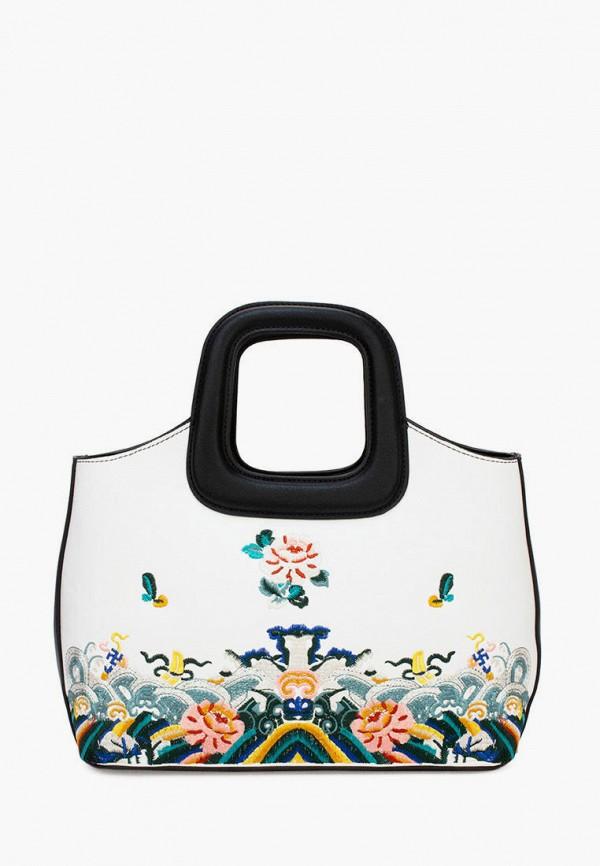 женская сумка с ручками laccoma, белая
