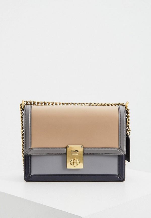 женская сумка через плечо coach, разноцветная