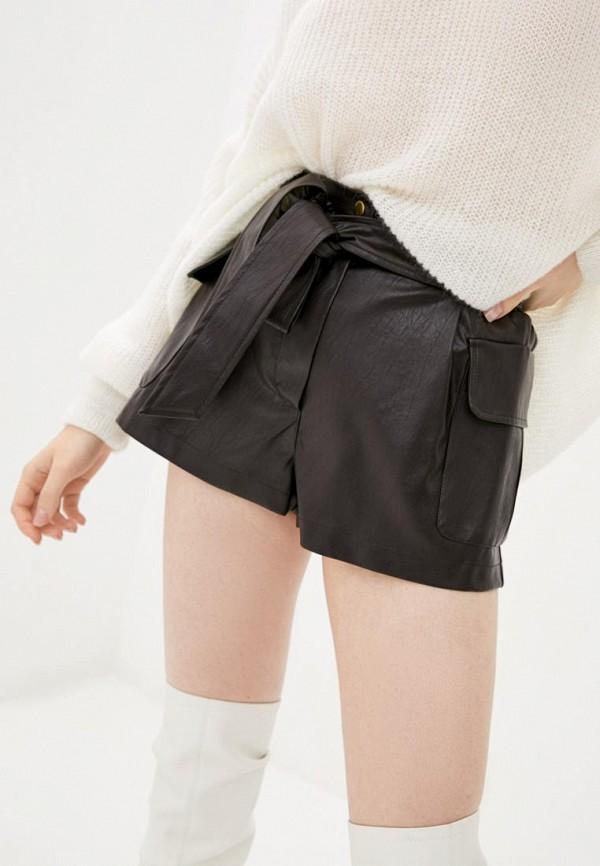женские повседневные шорты miss secret, коричневые