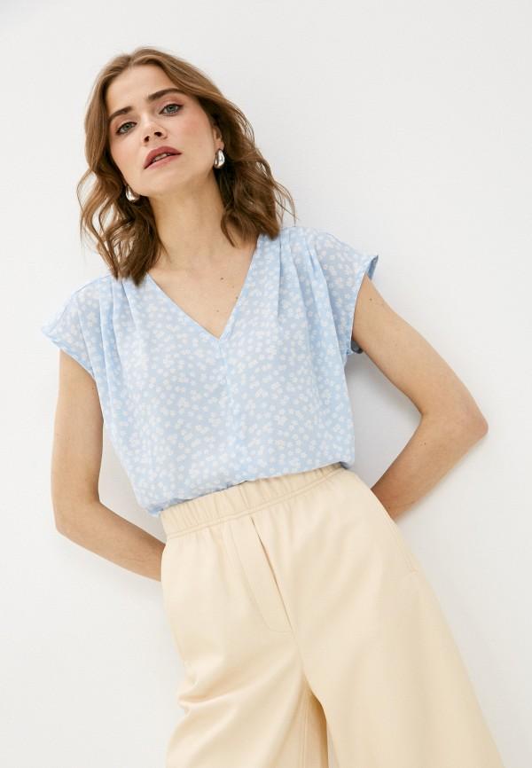 женская свободные блузка vittoria vicci, голубая