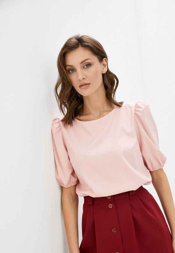 женская блузка с коротким рукавом vittoria vicci, розовая