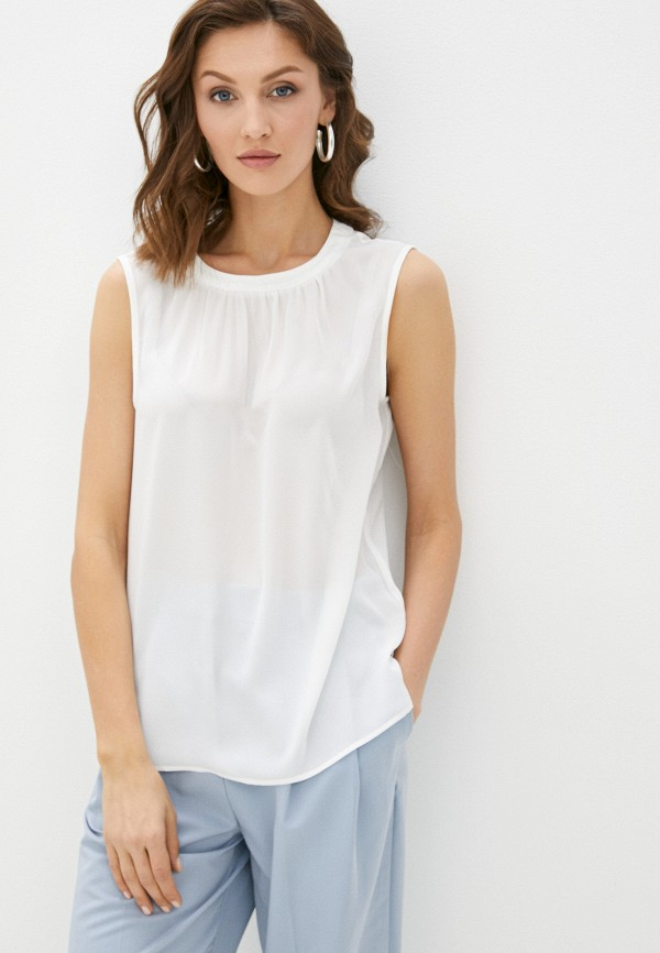 женская блузка без рукавов vittoria vicci, белая