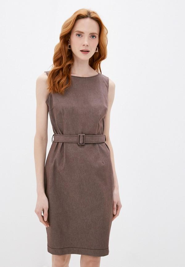 женское платье-футляр vittoria vicci, коричневое