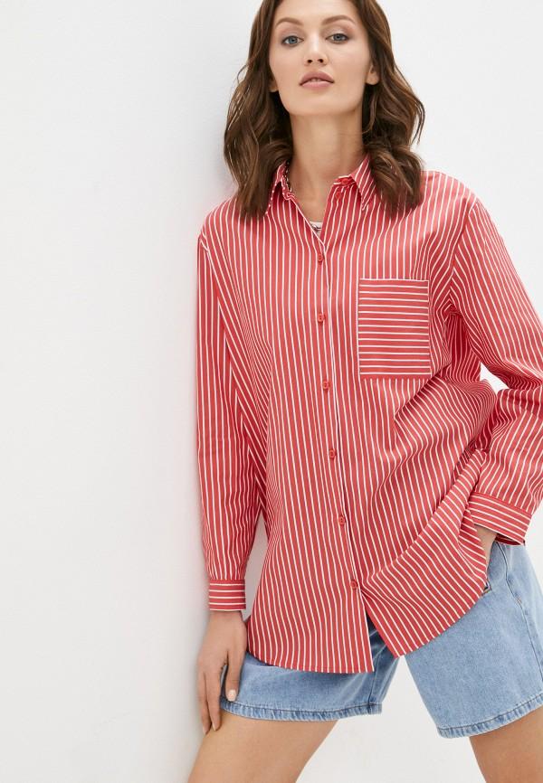 женская рубашка с длинным рукавом vittoria vicci, красная