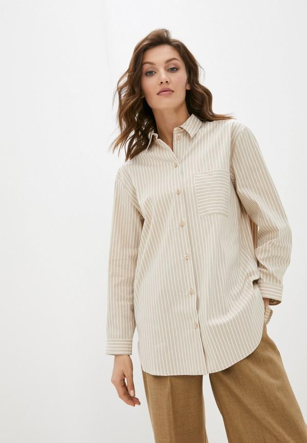 женская рубашка с длинным рукавом vittoria vicci, бежевая