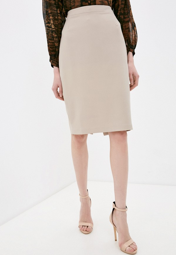 женская прямые юбка vittoria vicci, бежевая