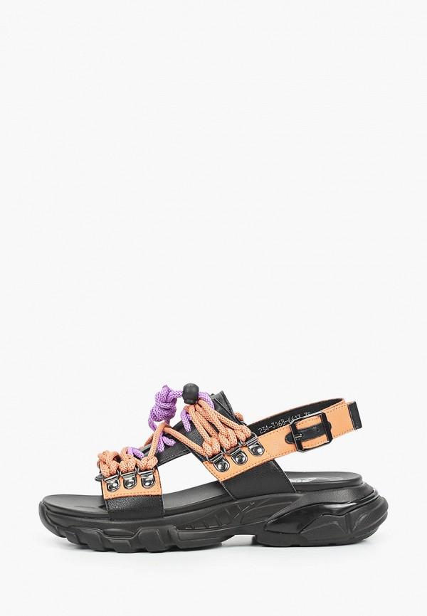 женские сандалии o2 live, оранжевые