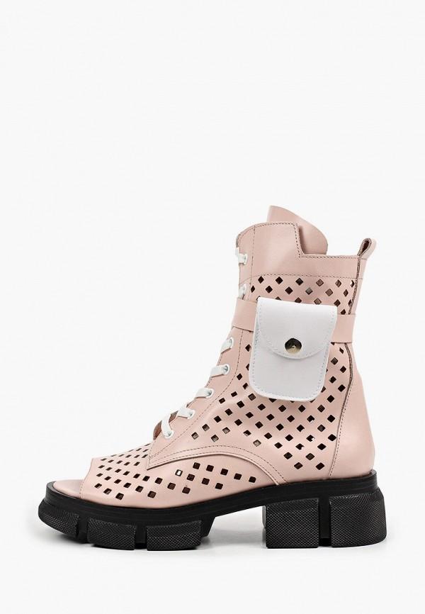 женские высокие ботинки stivalli, розовые