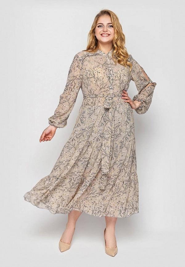 женское повседневные платье vlavi, бежевое