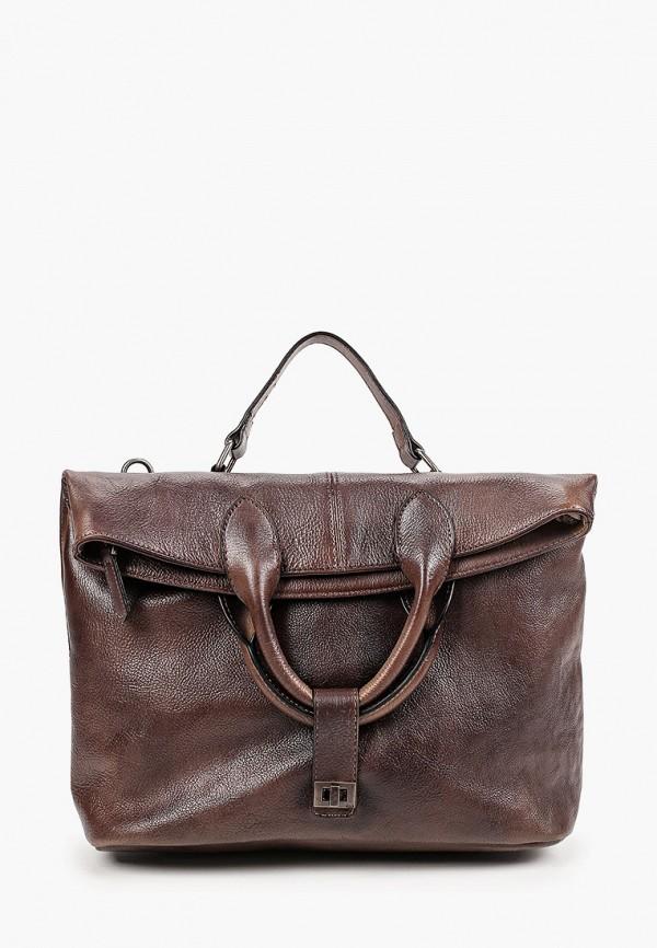 женская сумка с ручками ok&ky, коричневая