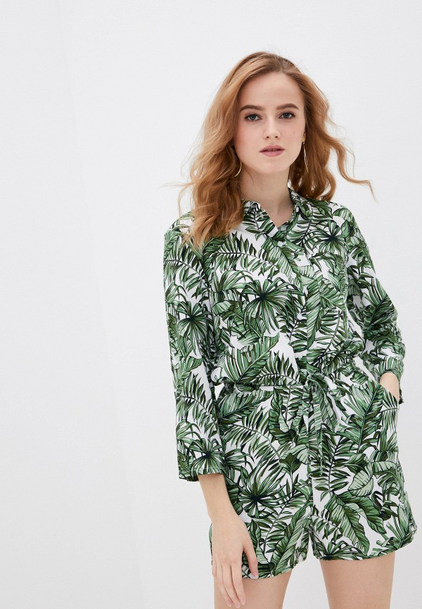 женский комбинезон с шортами sela, зеленый