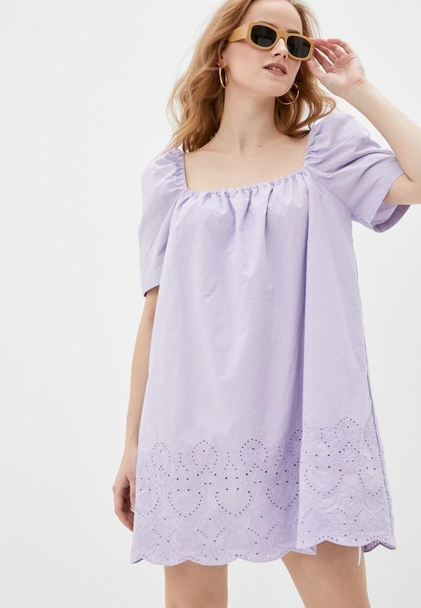 женское повседневные платье sela, фиолетовое