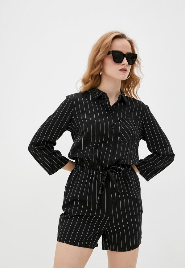 женский комбинезон с шортами sela, черный