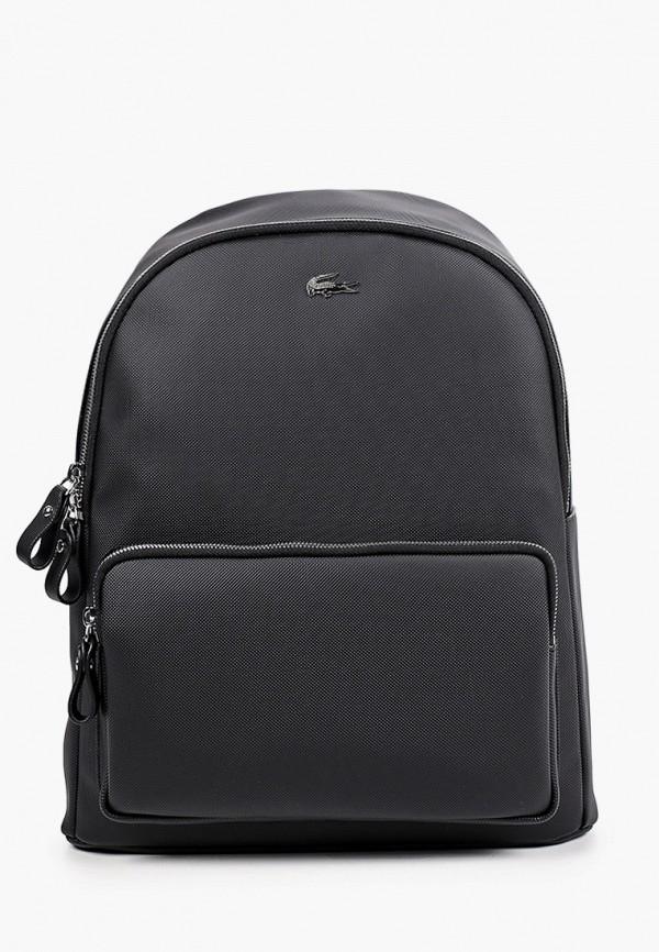 женский рюкзак lacoste, черный