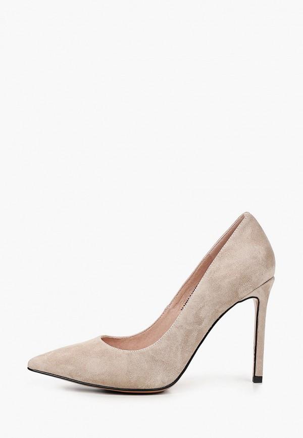 женские туфли-лодочки valley, бежевые