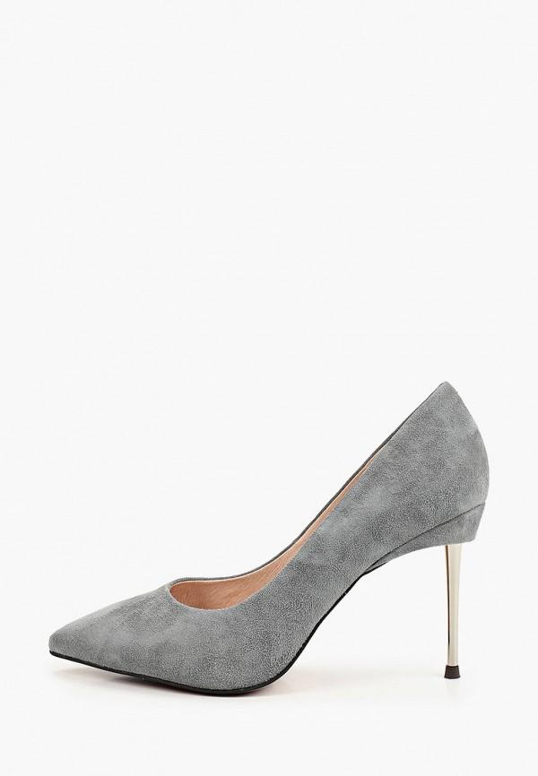 женские туфли-лодочки valley, серые
