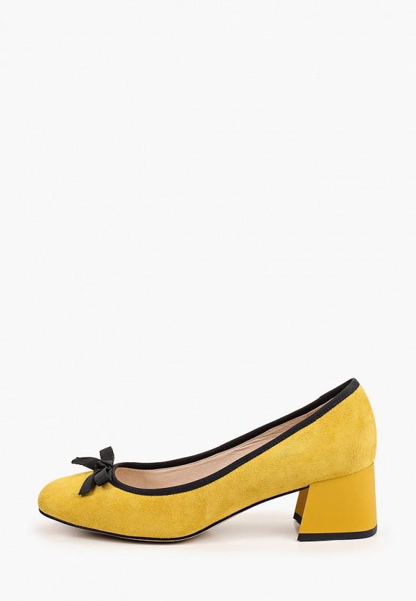 женские туфли с закрытым носом valley, желтые