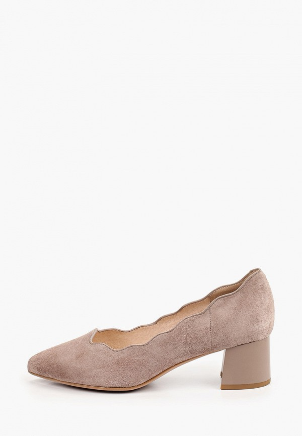 женские туфли с закрытым носом valley, коричневые