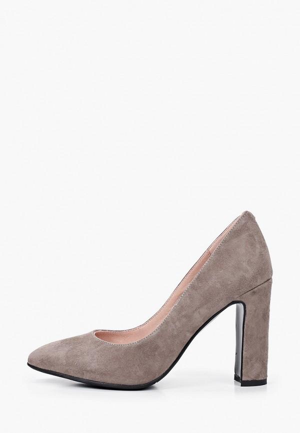 женские туфли с закрытым носом valley, серые