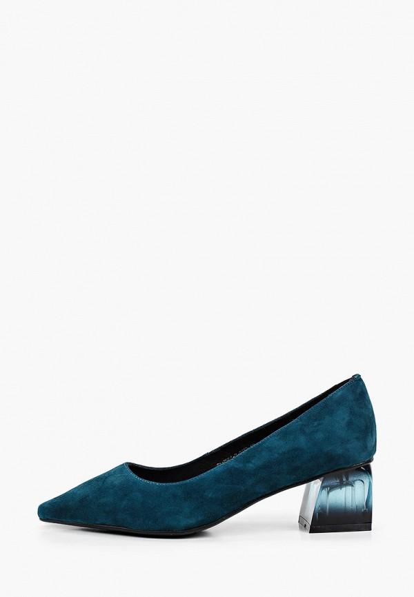 женские туфли с закрытым носом valley, синие