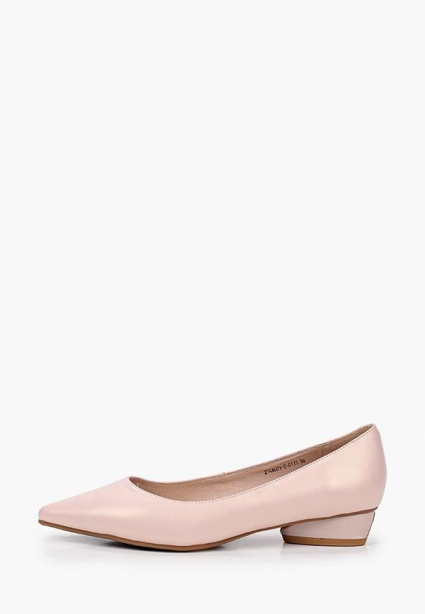 женские туфли с закрытым носом valley, розовые