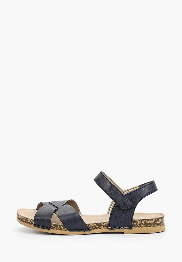 женские сандалии rieker, синие