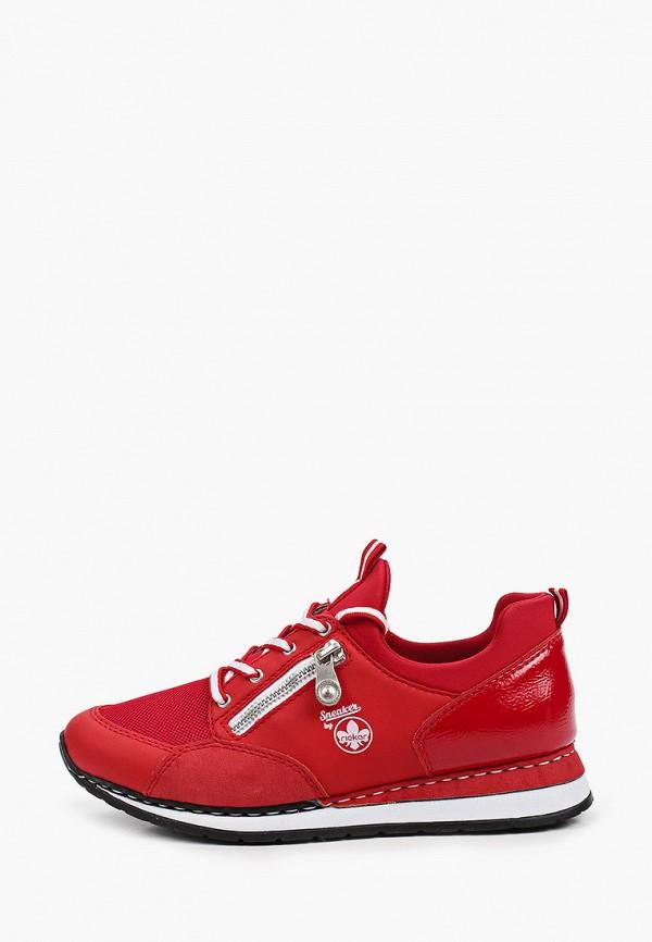 женские низкие кроссовки rieker, красные