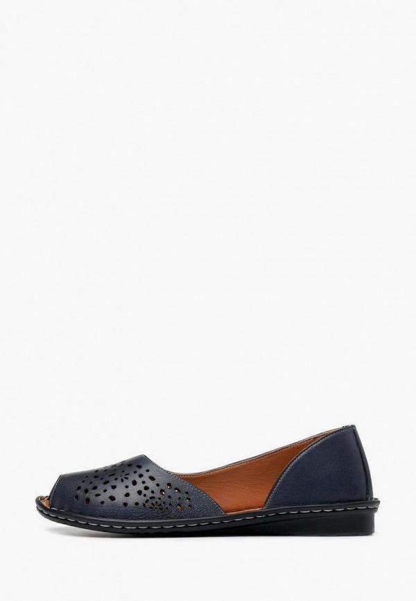 женские туфли с открытым носом alessio nesca, синие