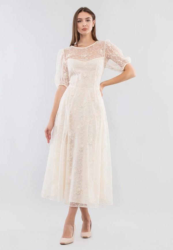 женское вечерние платье maxa, бежевое