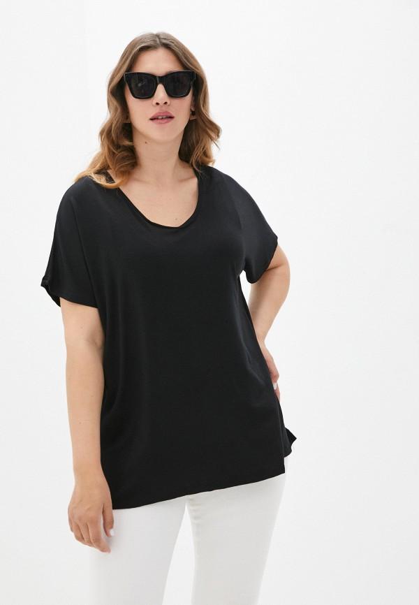 женская футболка артесса, черная
