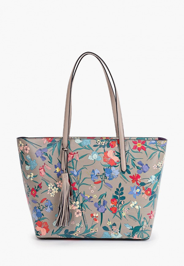 женская сумка-шоперы eleganzza, серая