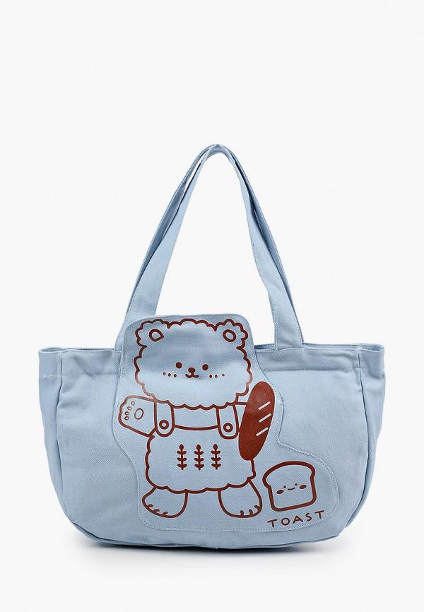 женская пляжные сумка flioraj, голубая