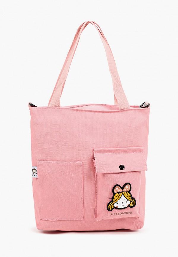 женская сумка с ручками flioraj, розовая