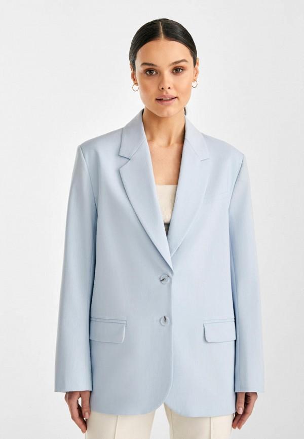 женский пиджак i am studio, голубой