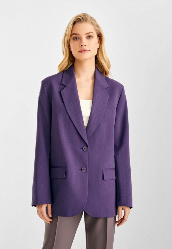 женский пиджак i am studio, фиолетовый