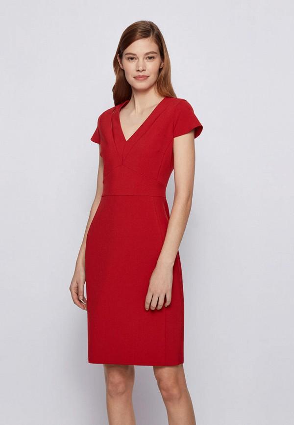 женское повседневные платье boss, красное