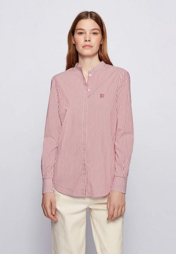 женская рубашка с длинным рукавом boss, красная