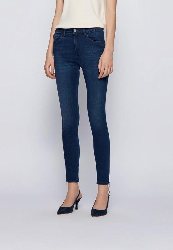 женские джинсы скинни boss, синие
