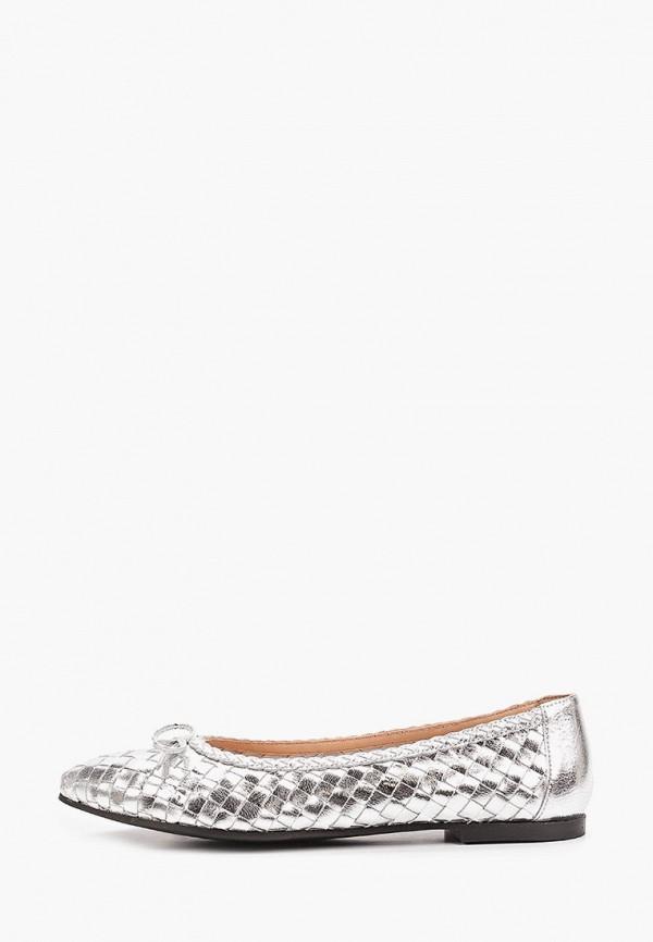 женские балетки marco bonne', серебряные