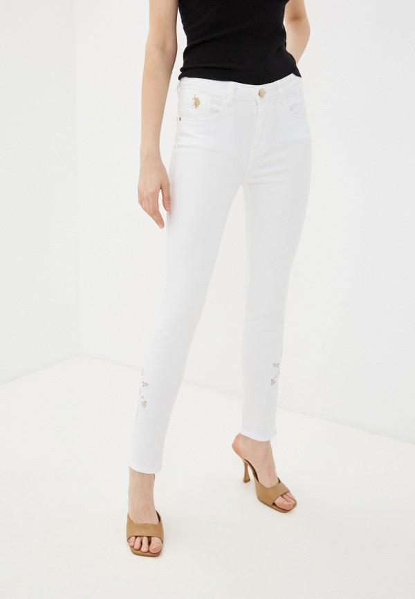 женские джинсы скинни u.s. polo assn, белые