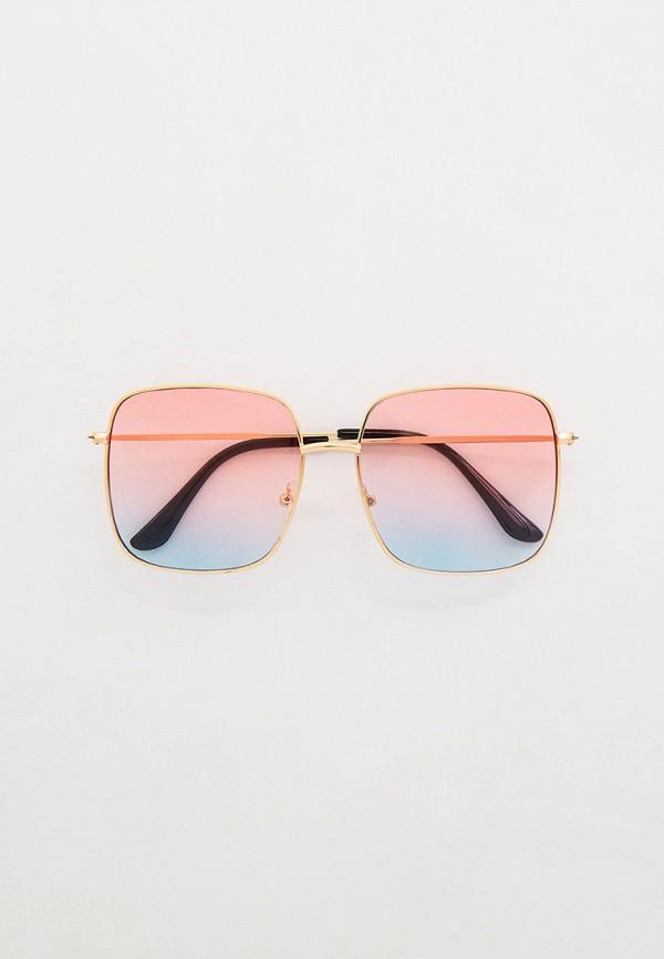 женские квадратные солнцезащитные очки concept club, золотые