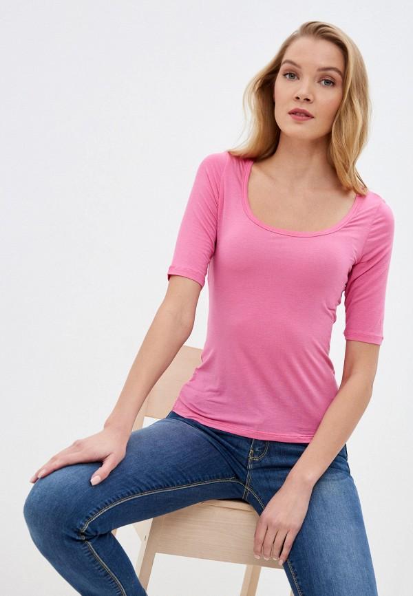 женская футболка intimissimi, розовая