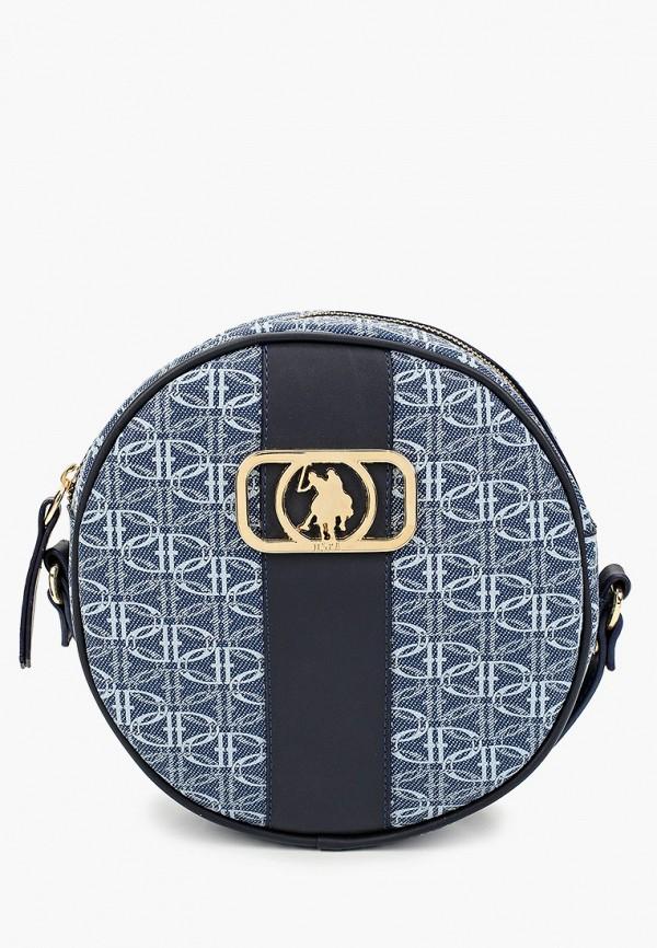 женская сумка через плечо u.s. polo assn, голубая