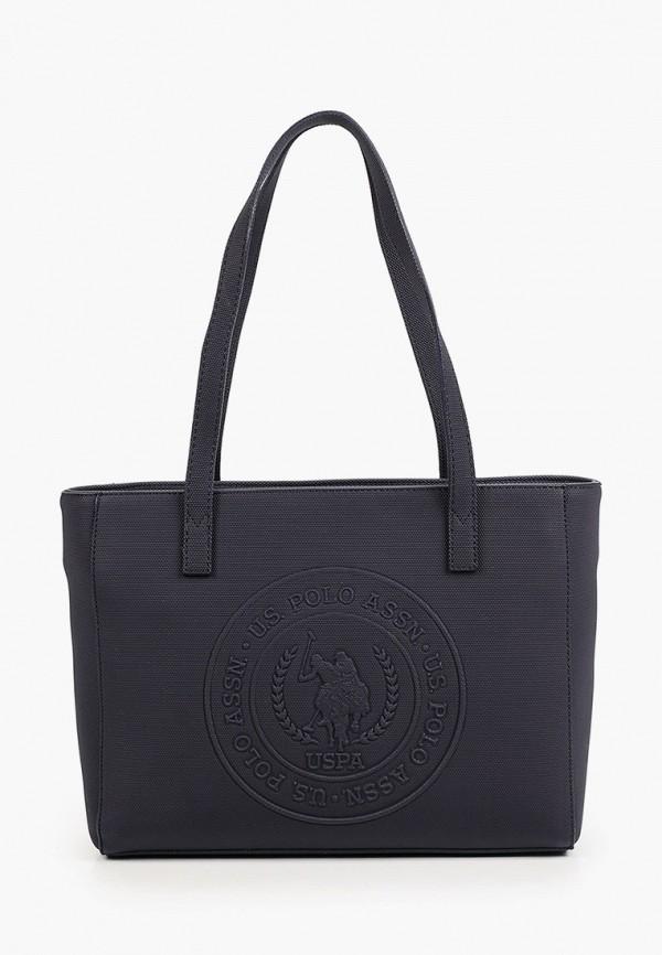 женская сумка-шоперы u.s. polo assn, синяя